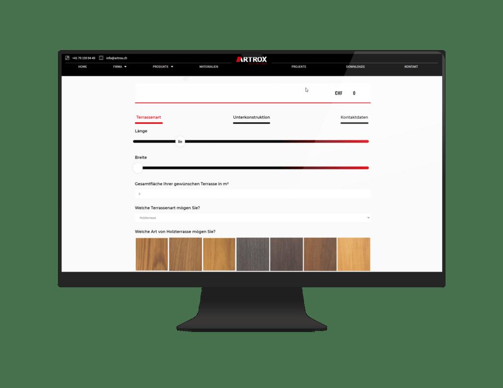 Branchenlösung Online Rechner - Integration - Parkett - Böden